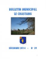 Bulletin Municipal Décembre 2014