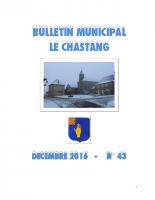 Bulletin Municipal Décembre 2016